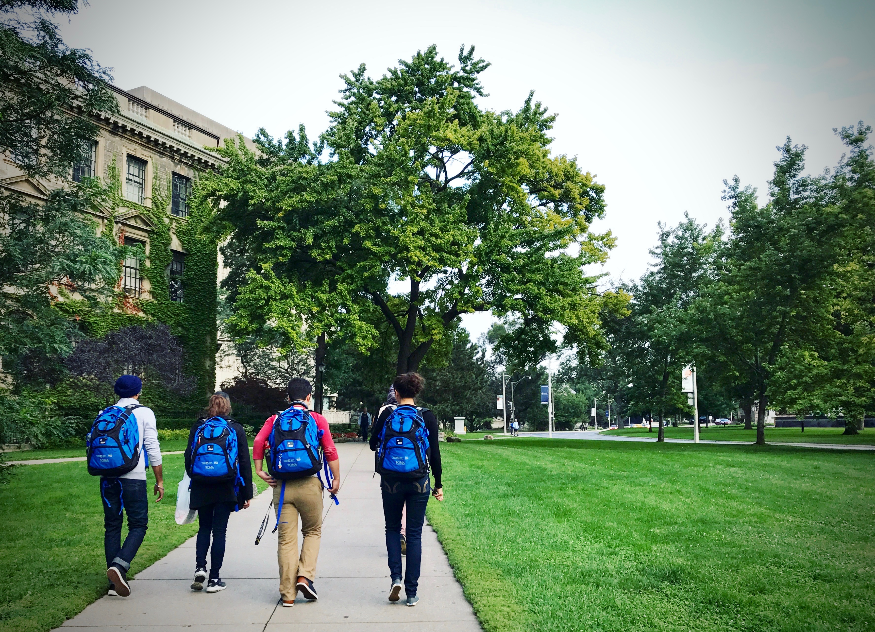 Students walking on University of Toronto's St. George Campus