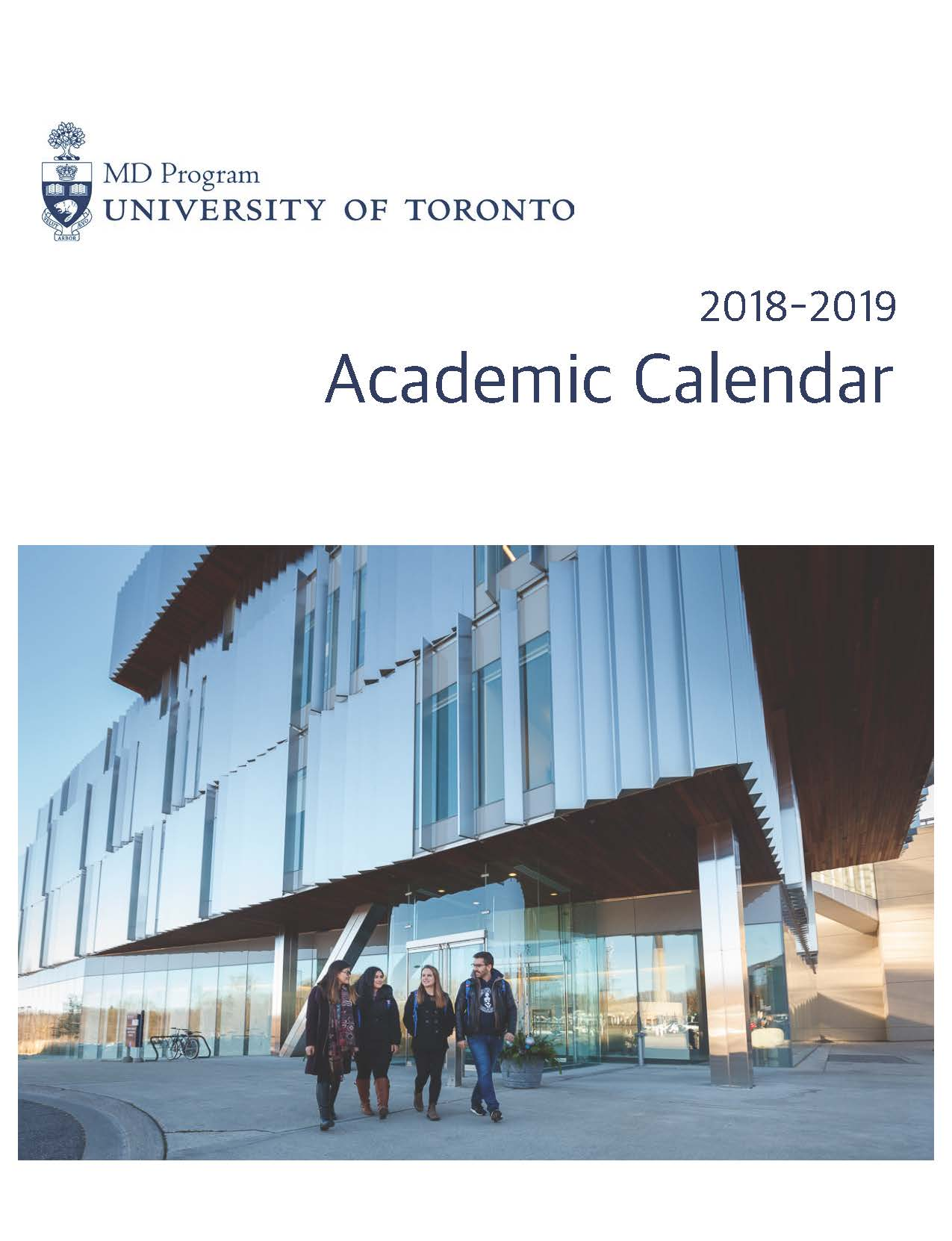 2018-2019 MD Program Academic Calendar Cover