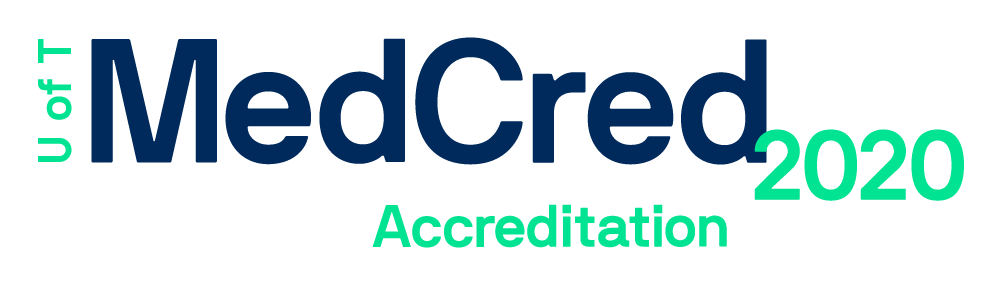 MedCred U of T Accreditation 2020 work mark