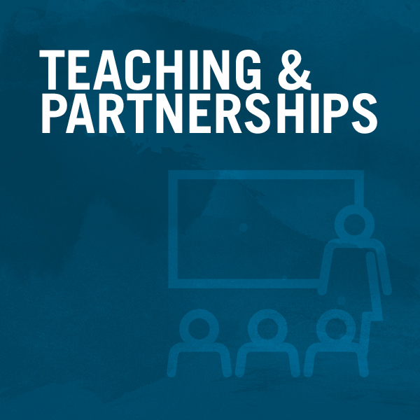 Teaching & Partnerships graphic