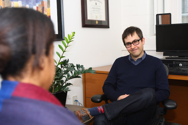 Student attends a personal counselling session