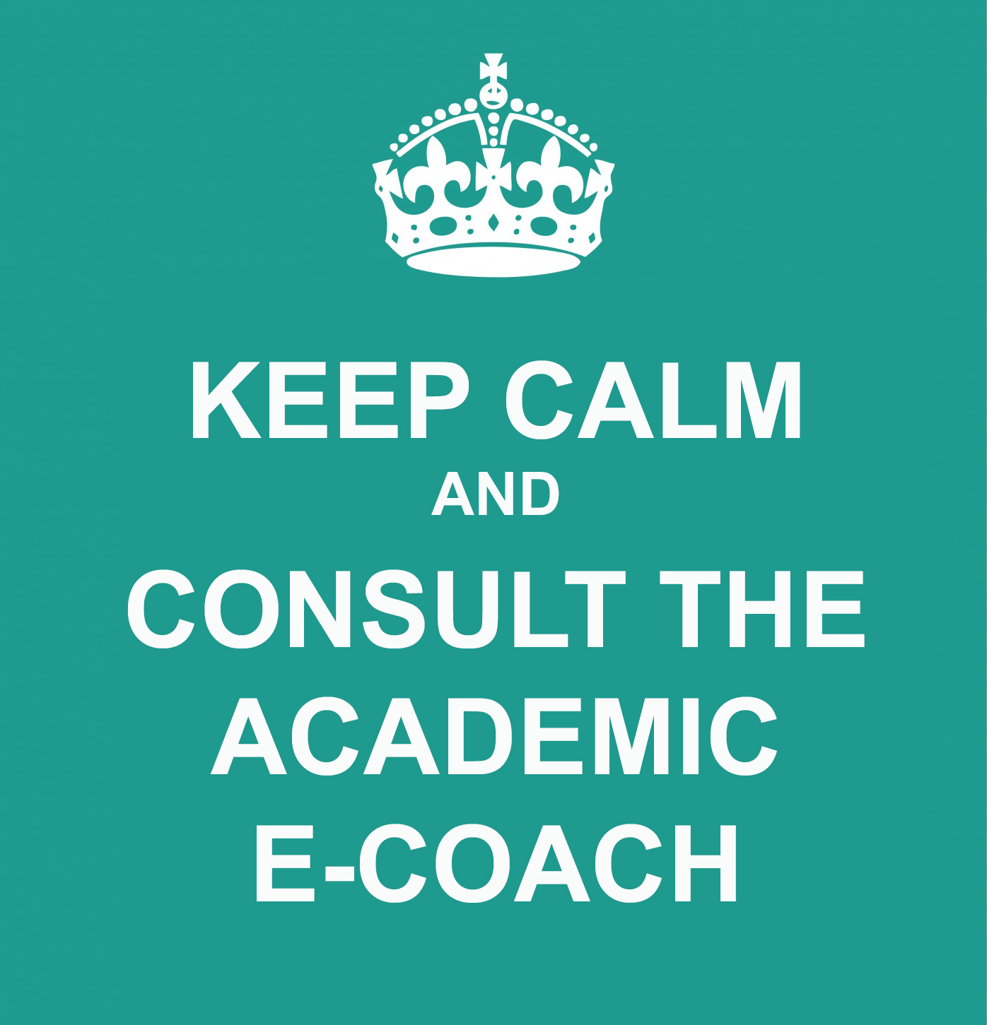Keep clam and consult the academic e-coach