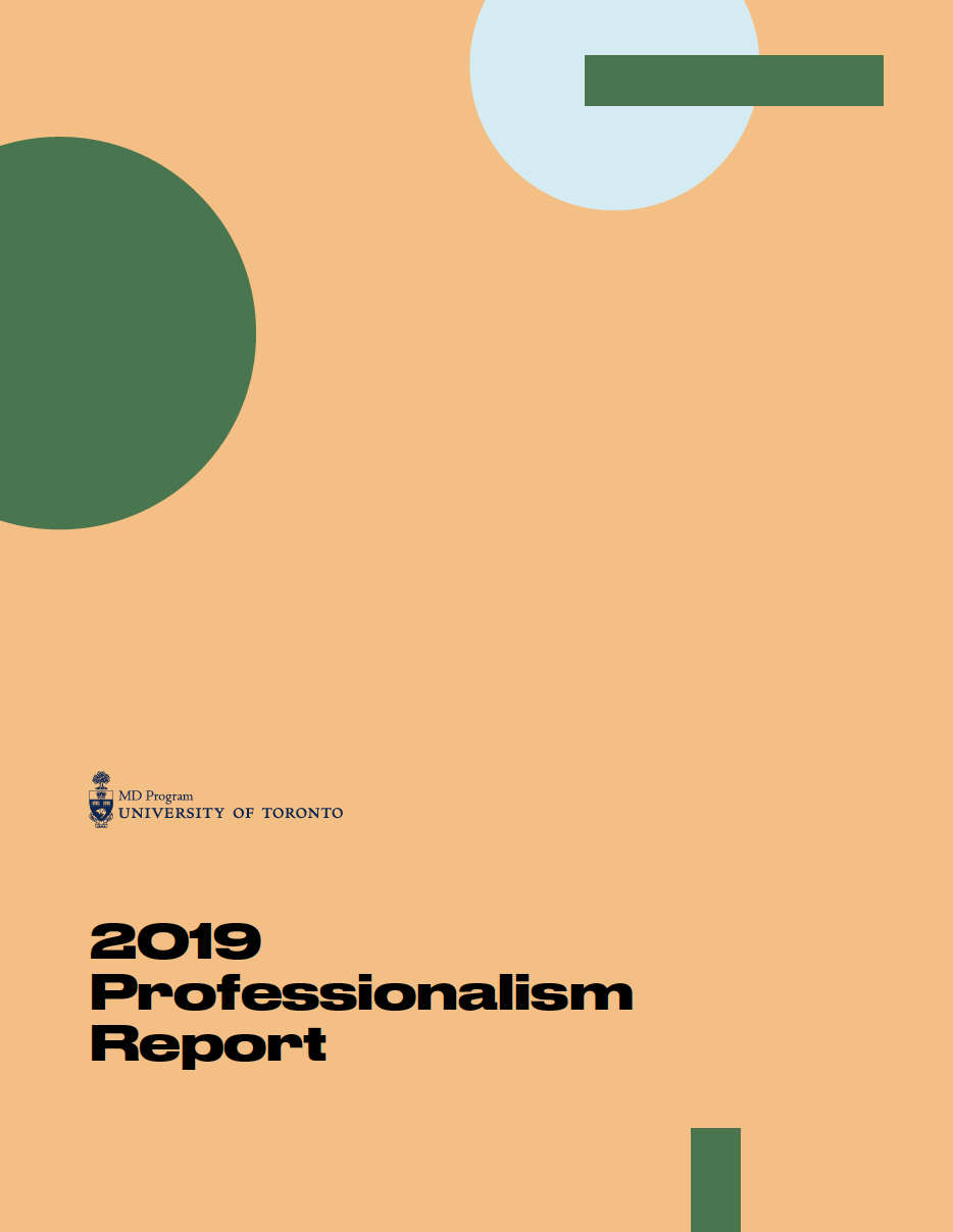 Professionalism report cover